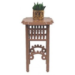 PLANT STAND W/PLANT, BROWN