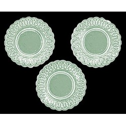LACE-EDGED PLATES, 3PC, JADITE