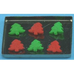 Christmas Cookies on Baking Sheet