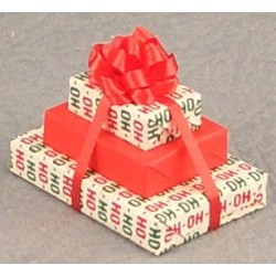 Triple Christmas Gift With Bow