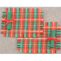 SSN: PLAID PLACE MATS & NAPKINS