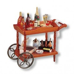 Liquor Serving Cart Display