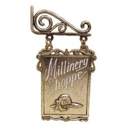 Millinery Sign On Hanger