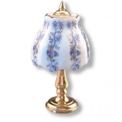 Gold Blue Onion Table Lamp