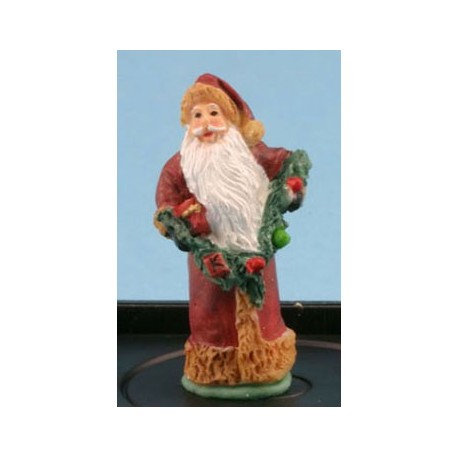 FATHER CHRISTMAS WITH GARLAND