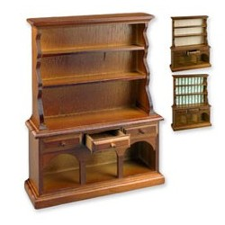 Wood Kitchen Hutch w/Papers