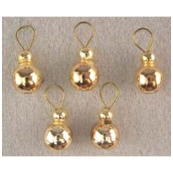 SSN: GOLD BALL ORNAMENTS, 5/PK