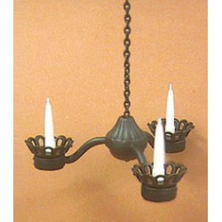 Black Wrought Iron Candle Chandelier