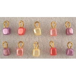 SSN: TINY CUBE ORNAMENTS, 10/PK