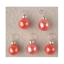 SSN: RED ORNAMENTS, 5/PK