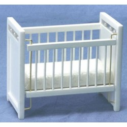 White Nursery Crib