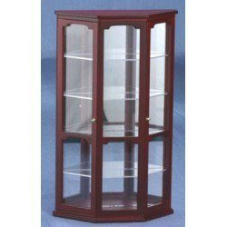Mahogany Curio Cabinet with Mirror