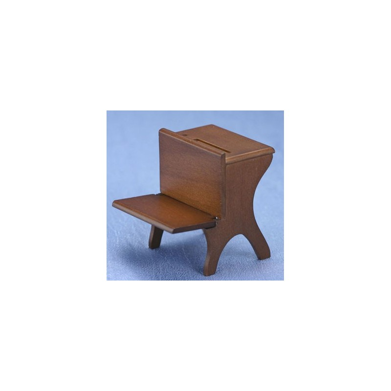miniature walnut school desk dollhouse office