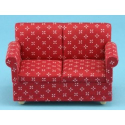 Red Printed Loveseat