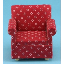 Red Printed Armchair