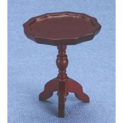 Mahogany Pie Crust End Table