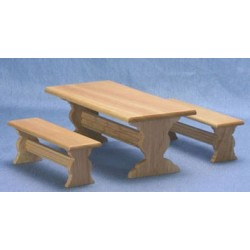 Oak Trestle Picnic Table