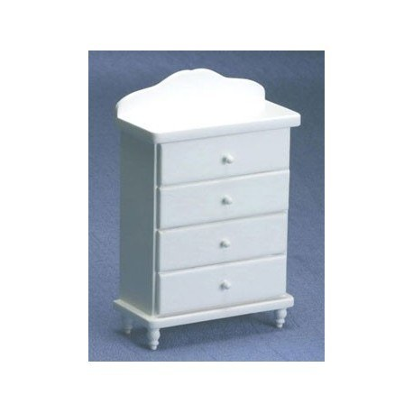 Princess White Chest of Drawers