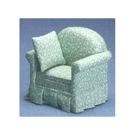 Green Floral Arm Chair
