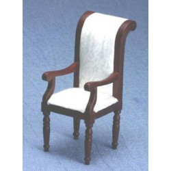 Mahogany & White Arm Chair