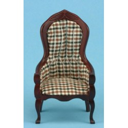 Plaid Victorian Gents Chair