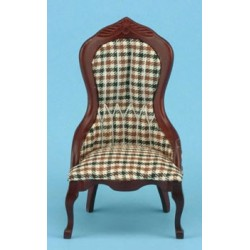 Plaid Victorian Lady's Chair