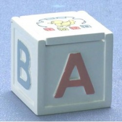 ABC White Toy Box