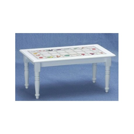White Fruit Decal Kitchen Table