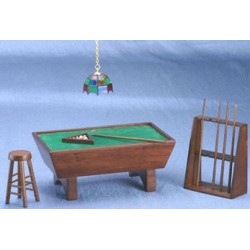 Walnut Pool Table Set  sc 1 st  Superior Dollhouse Miniatures & Pool Tables | Dollhouse Game Room Furniture | Superior Dollhouse ...