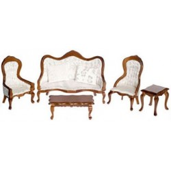 Victorian Walnut Living Room Set
