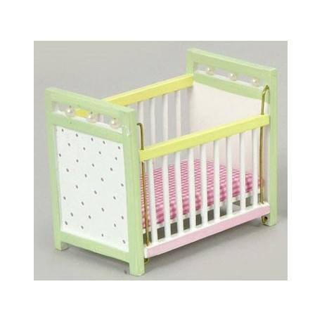 Miniature Multicolor Baby Crib Dollhouse Nursery