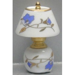 CHINA/BRASS LAMP-BLUE FLORAL