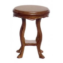 GUADIE ART NOVEAU END TABLE, WALNUT