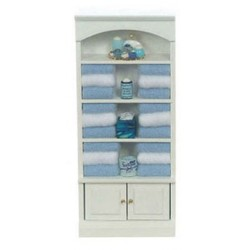 Bathroom Cabinet White & Blue