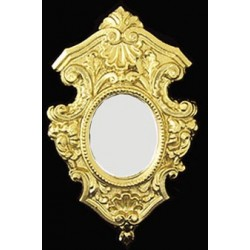 Gold Shield Mirrored Frame