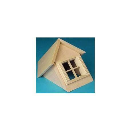 1/2 SCALE: DORMER WINDOW UNIT W/WINDOW