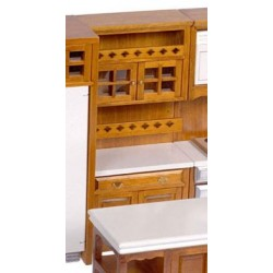 Walnut Kitchen Cabinet with Shelves