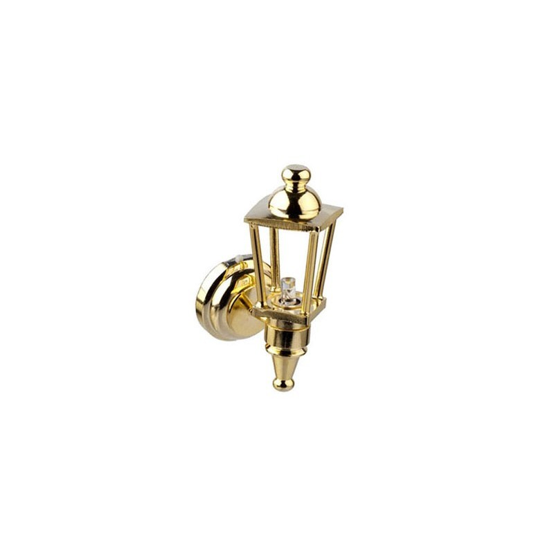 Led Brass Carriage Lamp Dollhouse Wireless Battery