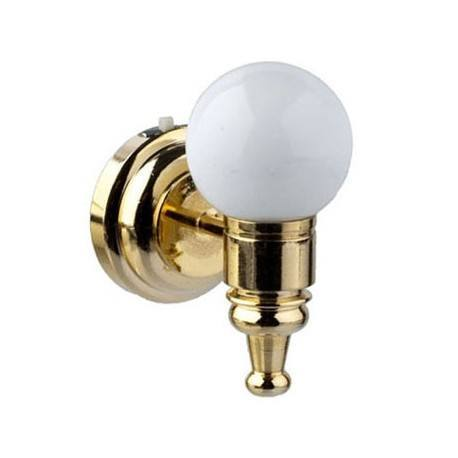 wht globe wall sconce dollhouse wireless battery operated led lights. Black Bedroom Furniture Sets. Home Design Ideas