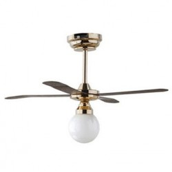 Led White Globe Ceiling Fan