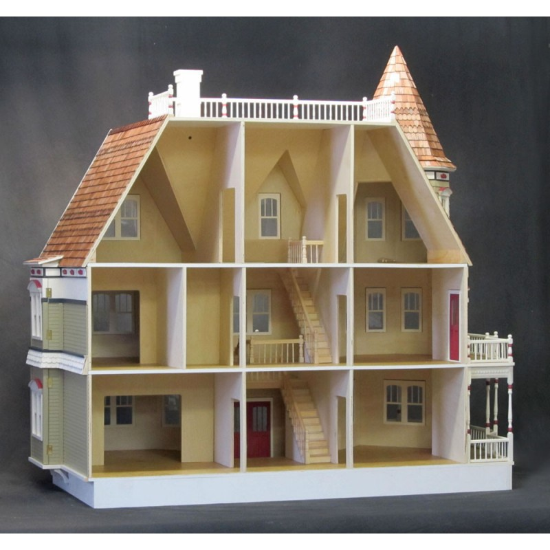Queen Anne Dollhouse Kit Dollhouses Amp Dollhouse Kits