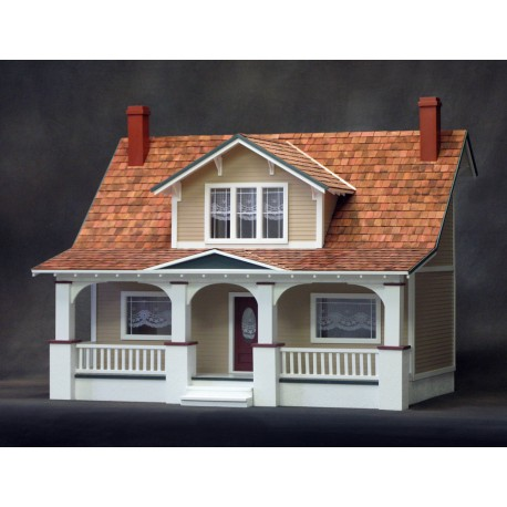 Classic Bungalow Dollhouse Kit, Milled Plywood