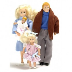 4pc Mod.doll Family/blond