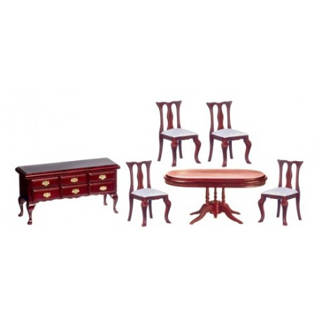6pc Dining Room/mahogany/bx