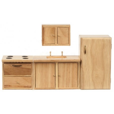 4pc Modern Kitchen/oak/cs