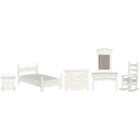 White Bedroom Set/5/cs