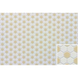 White/beige Hex Tile