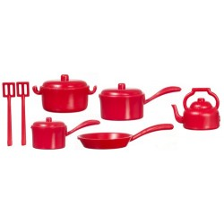 Red Kitchenware/10pcs