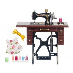 Black Sewing Machine w/Moving Needle
