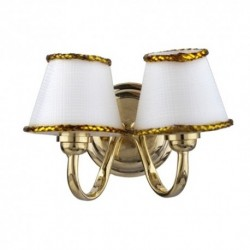 Led Dbl.wh.shade Sconce